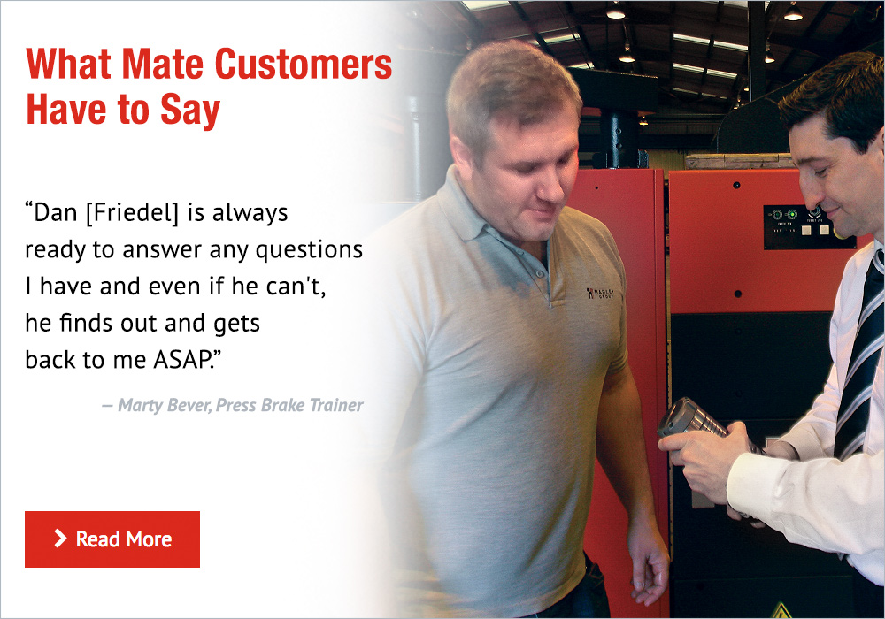 What Mate Customers Have to Say - Testimonials